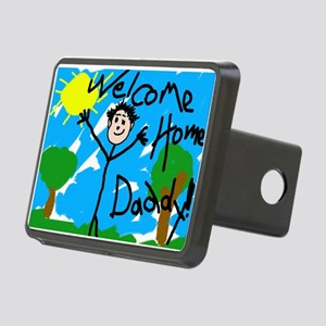 Welcome Home Daddy Rectangular Hitch Cover
