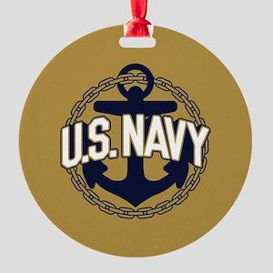 U.S. Navy Seal Round Ornament