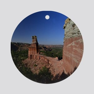 The Lighthouse in Palo Duro Canyo Ornament (Round)