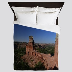 The Lighthouse in Palo Duro Canyon Queen Duvet