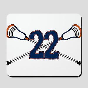 Lacrosse 22 Orange and Blue Mousepad