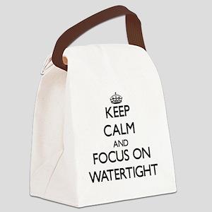 Keep Calm by focusing on Watertig Canvas Lunch Bag