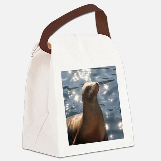 Cute Seal Canvas Lunch Bag