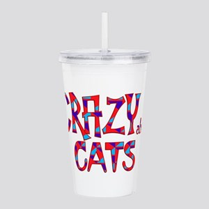 Crazy About Cats Acrylic Double-wall Tumbler