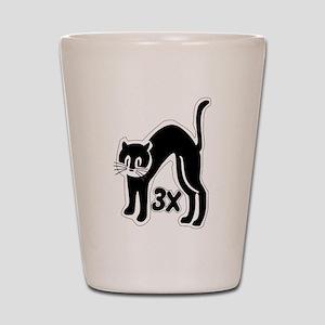 u48_cat_times_3 Shot Glass