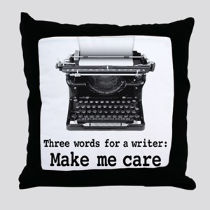 Make Me Care Throw Pillow