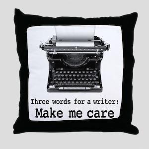 Make Me Care Throw Pillow