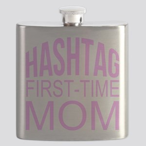 1st Time Mommy Hashtag Flask