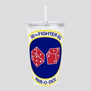 90TH_FIGHTER_f15 Acrylic Double-wall Tumbler