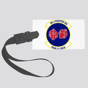 90TH_FIGHTER_f15 Large Luggage Tag