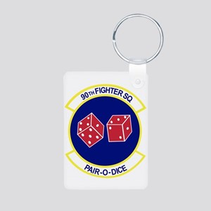90TH_FIGHTER_f15 Keychains