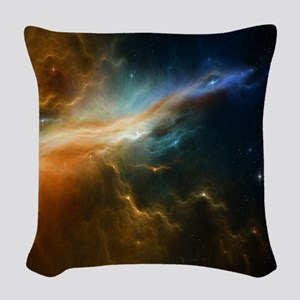 Deep Space Nebula Woven Throw Pillow