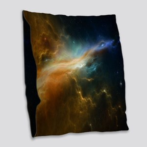 Deep Space Nebula Burlap Throw Pillow