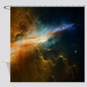 Deep Space Nebula Shower Curtain