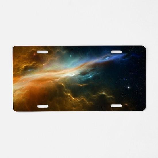 Deep Space Nebula Aluminum License Plate