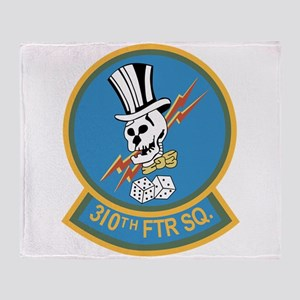 310th Fighter Squadron Throw Blanket