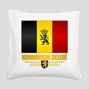Kingdom of Belgium Square Canvas Pillow
