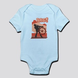 Red Pirate Ship Infant Bodysuit