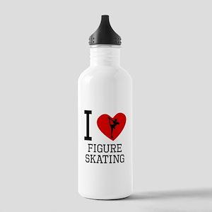 I Heart Figure Skating Water Bottle