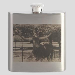 Longhorn Cattle Flask