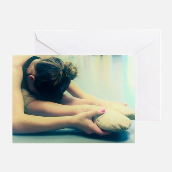 Ballerina Ballet Dancer Student at Rest Greeting C