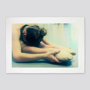 Ballerina Ballet Dancer Student at Rest 5'x7'Area