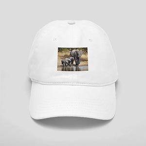 Elephant mom and babies Baseball Cap