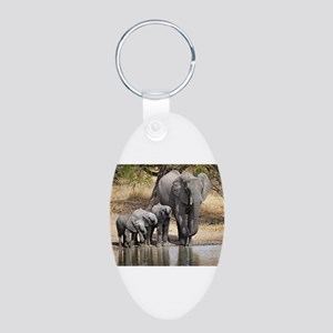Elephant mom and babies Keychains