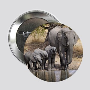 """Elephant mom and babies 2.25"""" Button (10 pack)"""