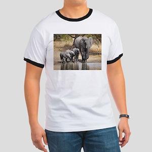 Elephant mom and babies T-Shirt