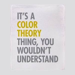 Color Theory Thing Throw Blanket