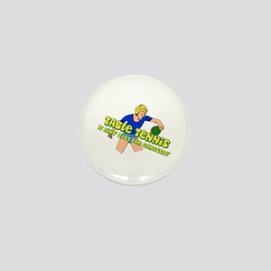 Gangster Ping-Pong Table Tennis Woman Mini Button