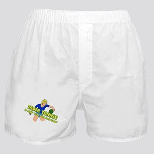 Gangster Ping-Pong Table Tennis Woman Boxer Shorts