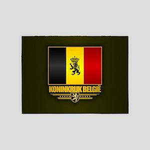 Kingdom of Belgium 5'x7'Area Rug