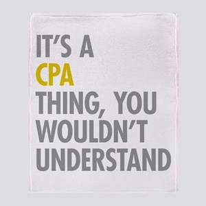 Its A CPA Thing Throw Blanket