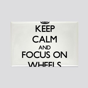 Keep Calm by focusing on Wheels Magnets