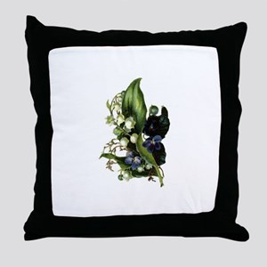 Victorian Floral 6 Throw Pillow