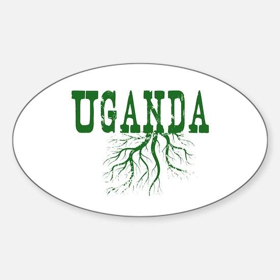 Uganda Roots Sticker (Oval)