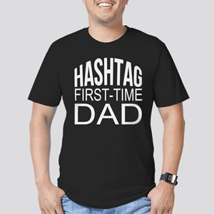Hashtag First Time Dad Men's Fitted T-Shirt (dark)