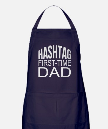 Hashtag First Time Dad Apron (dark)