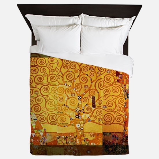 Gustav Klimt Tree of Life Art Nouveau Queen Duvet