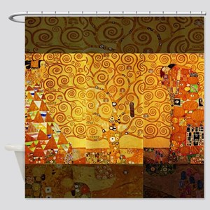 Gustav Klimt Tree of Life Art Nouveau Shower Curta