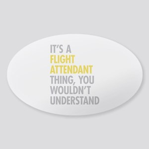 Flight Attendant Thing Sticker (Oval)