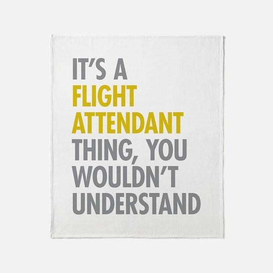 Flight Attendant Thing Throw Blanket