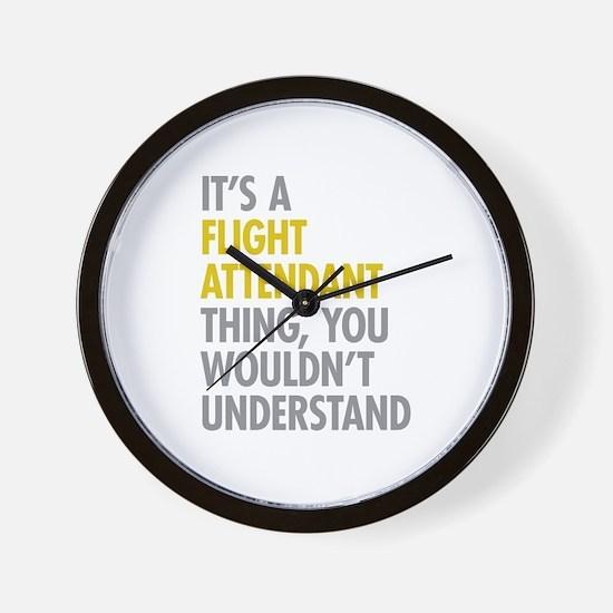 Flight Attendant Thing Wall Clock