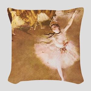 Ballet Dancer Degas Pink Impressionist Woven Throw