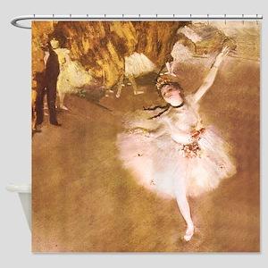 Ballet Dancer Degas Pink Impressionist Shower Curt
