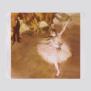 Ballet Dancer Degas Pink Impressionist Throw Blank