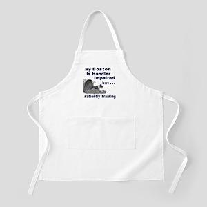 Boston Terrier Agility BBQ Apron