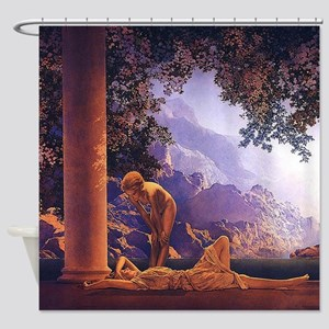 Maxfield Parrish Daybreak Nouveau Classical Shower